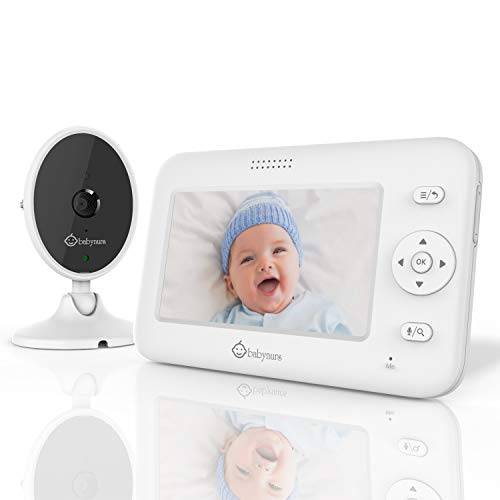 """Babynurs Video Baby Monitor with Camera and Audio, 4.3"""" Baby Monitor with Night Vision, 1000ft Range, 1800mAh High Capacity, Two-Way Talk, VOX Mode, 5 Lullabies, Auto Wake-up, Zoom, Thermal Monitor"""