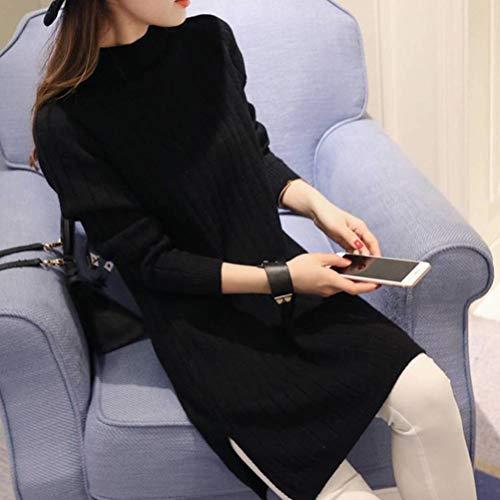 Pullover voor dames in de herfst en winter, hoodie, pullovers, truien, lange mouwen, kort, Justtime Eén maat zwart.