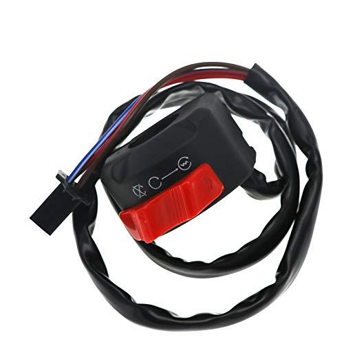 HKRSTSXJ Moto Montaje del Manillar del Interruptor de pulsador de Inicio de muertes ON Off Niebla de la Linterna de la luz 12V de la Motocicleta Interruptores