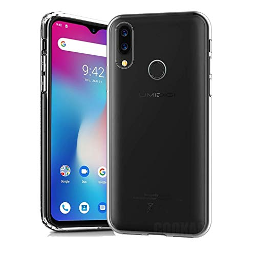 cookaR Crystal Clear UMIDIGI Power Hülle, Transparent Silikon TPU Hülle Superdünn Soft Cover Handyhülle Schutzhülle für UMIDIGI Power Smartphone, Transparent