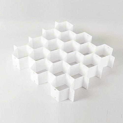 Tofern 18 Slot Honeycomb cassetto dell'organizzatore Stoccaggio divisore per calze biancheria intima Arte e artigianato - Bianco