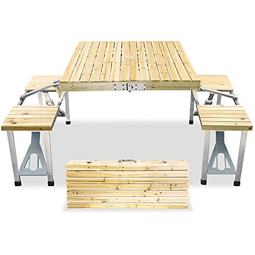 QINNKJIA アウトドアテーブルチェアセット