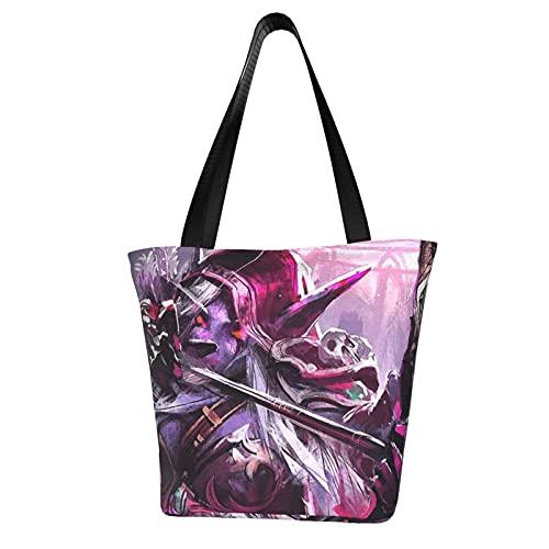 Bolso grande para mujer, con asa superior, con cremallera, para viajes, escuela, bolsa cruzada, de lona, duradero, ligero, cómodo y elegante
