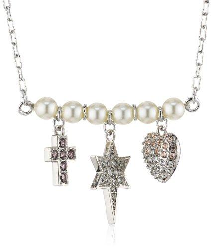 Swarovski Damen Halskette Palladium R&J Multi Kristall 38 cm mehrfarbig 5027489