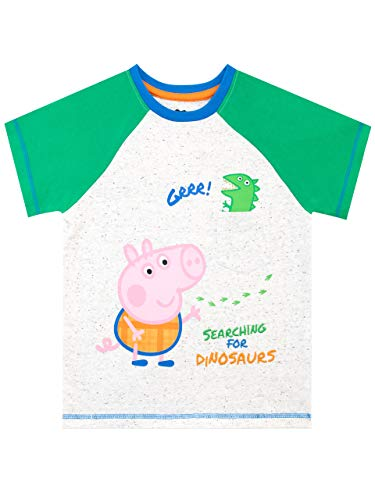 Peppa Pig Camiseta de Manga Corta para niños George Pig Verde 3-4 Años