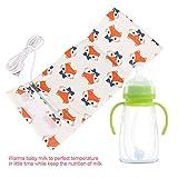 USB Babyflaschenwärmer tragbare Reise Säuglingsbaby Konstante Temperatur Milchwärmer Fütterung Flaschenwärmer