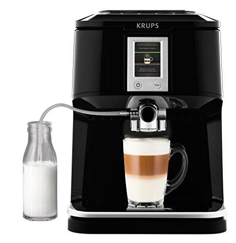 KRUPS EA850B Kaffeevollautomat One-Touch-Funktion (1,7 l, 15 bar, Touchscreen-Display) schwarz