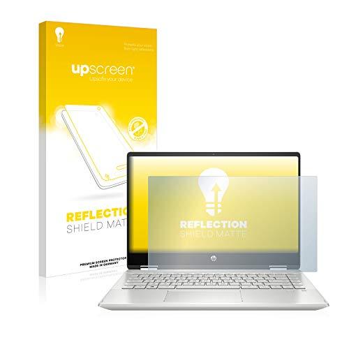 upscreen Entspiegelungs-Schutzfolie kompatibel mit HP Pavilion x360 14-dh0324ng – Anti-Reflex Bildschirmschutz-Folie Matt