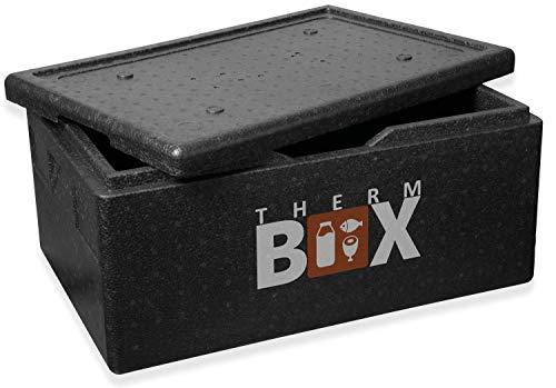 THERM BOX Caja de espuma de poliestireno Caja grande de 40 litros de aislamiento Thermobox Caja para mantener el calor Contenedor térmico GN Interior: 53,9x34x21,9cm Reutilizable