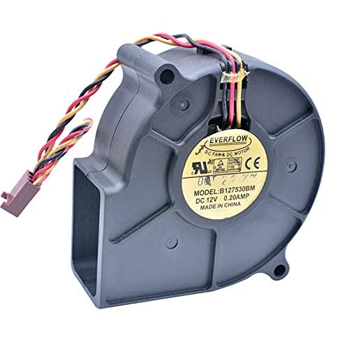 B127530BM EVERFLOW 7.5cm 12V 0.20A silent turbo blower cooling fan