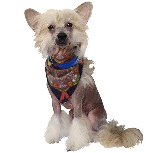Foulard élégant en forme de chien pour l'hiver (multicolore) XL -Halsumfang 34-40 cm bleu