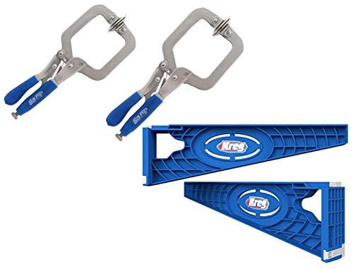 Kreg Tool Company - Kreg KHI-SLIDE Installation Jig Drawer Slide Jig and Kreg KHC-PREMIUM Face Clamp (2 Pack)