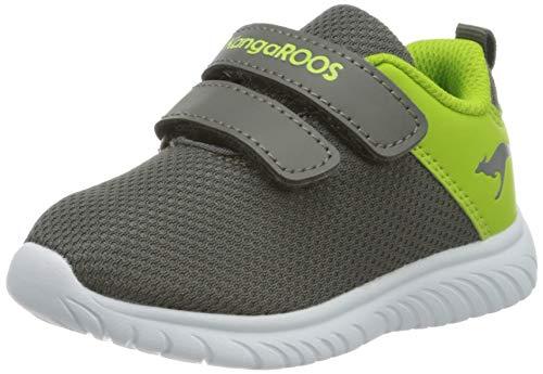 KangaROOS KI-Lite V Unisex Baby Sneaker, Grau (Steel Grey/Lime 2014), 27 EU
