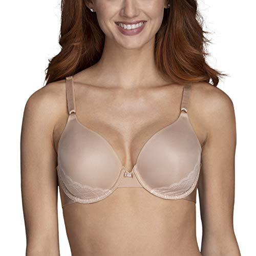 Vanity Fair Women's Beauty Back Full Coverage Underwire Bra 75345, honey beige lace, 36B