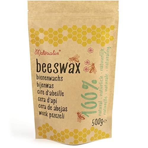 Materialix Cire d'abeille 100% Naturelle de diverses Tailles (500g)
