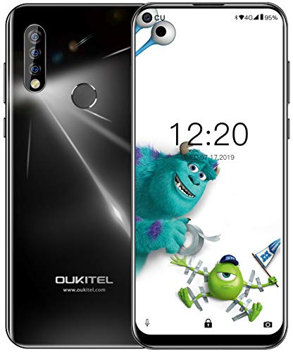 6.35' 4+64GB, OUKITEL C17 Pro Octa Core Android 9.0 Unlocked Cell Phone, 3900mAh Fingerprint Face ID Black