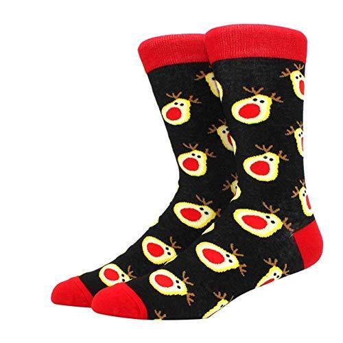 Algodón Happy Men Calcetines Nuevo Otoño Invierno Navidad Mujer Calcetines Divertido Año Nuevo Santa Claus-a17