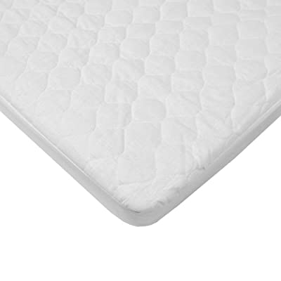 American Baby Company Waterproof Fitted Quilted Portable Mini Crib Mattress Pad Cover.
