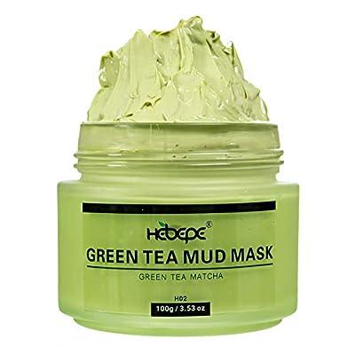 Hebepe Matcha Green Tea Facial Detox Mud Mask with Aloe Vera, Deep Cleaning, Hydrating, Detoxing, Healing, and Relaxing Volcanic Clay Facial Mask by Hebepe