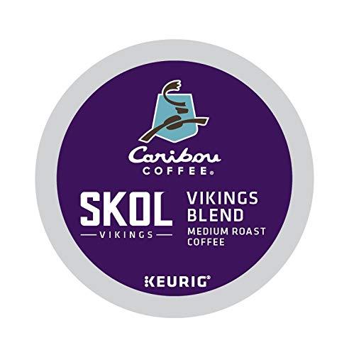 Caribou Coffee SKOL Vikings Blend, Single-Serve Keurig K-Cup Pods, Medium Roast Coffee, 60 Count