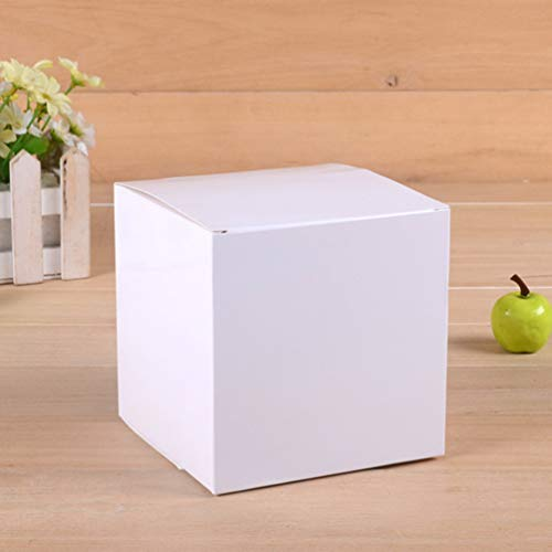 TOPBATHY 10 pcs White Boxes Gift Boxes 12 x 12 x 12cm Paper Gift Boxes with Lids for Gifts, Bridesmaid Proposal Box, Cupcake Boxes, Crafting