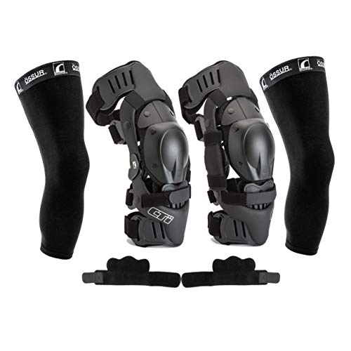 Ossur CTi Knee Brace Protection Set - Motocross Edition - Includes Right and Left Sides, Patella Protector Cups, Gear Guards, Anti-Migration Wraps, Under-Sleeves and CTi Stickers (Medium)