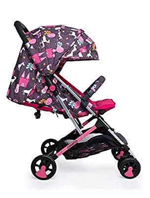 Cosatto Woosh 2 Pushchair – Ultra Lightweight Stroller From Birth to 25kg | One Hand Easy Fold, Compact (Unicorn Land)