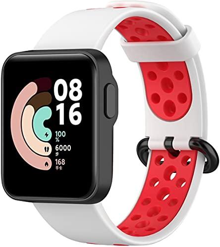 Chainfo Repuesto de Correa de Reloj de Silicona Compatible con Xiaomi Mi Watch Lite/Redmi Watch, Caucho Fácil de Abrochar para Relojes y Smartwatch (Pattern 2)