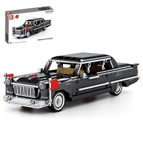 GILE Técnica de coche antiguo, 773 piezas, técnica retro, juego de construcción, tecnología Pull Back Auto compatible con la técnica Lego