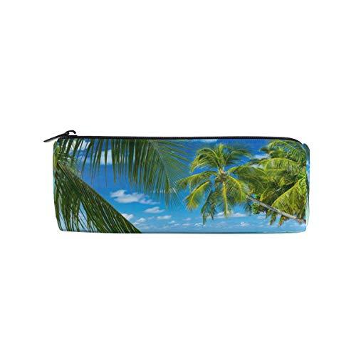 Lawenp Verano mar gafas sombrero palmeras estuche para lápices estuche para estudiantes bolígrafo bolsa escuela bolsa de maquillaje redonda para chico niño niña