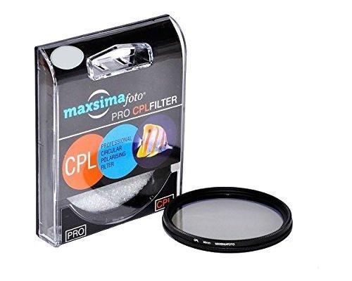 Maxsimafoto Professioneller Zirkular-Polarisationsfilter (CPL, C-PL) 62 mm für Panasonic DMC-FZ1000 Lumix Bridge Kamera, FZ1000EB, FZ1000
