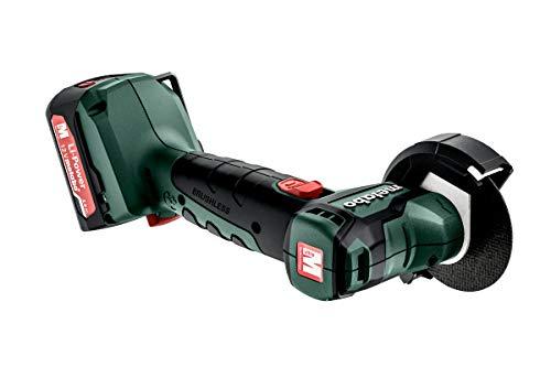 metabo 4061792175563 600348500-Miniamoladora compacta Motor sin escobillas a batería 12V 2X 2,0Ah Li-Ion PowerMaxx CC 12 BL con maletín, Negro, Size