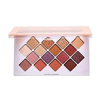 16色 レディース 化粧品 マットパーリーアイシャドウパレッ持続するな地球砂漠メイク (A)
