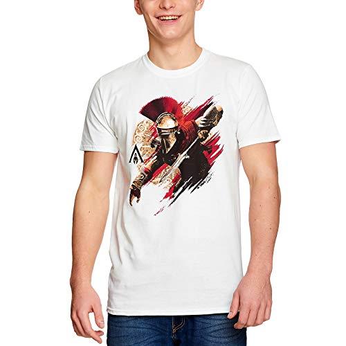 Assassins Creed Herren T-Shirt Alexios Armour Odyssey Baumwolle weiß - M
