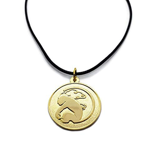 Damian Black RWBY Sun Wukong Coin Pendant Necklace Cosplay Accessory (Necklace on Leather Cord)