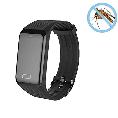 RGLZY Moustique Personnel Bracelet Net avec câble USB, adapté pour Les Adultes, Les Enfants Intérieur et extérieur