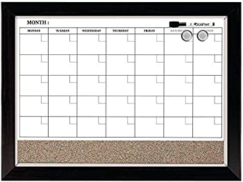 Quartet 17 X 23 Inch Combination Magnetic Whiteboard Calendar & Corkboard