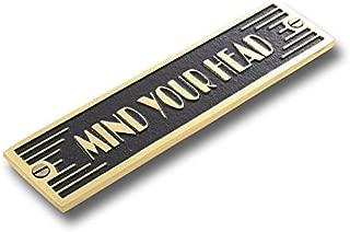 The Metal Foundry Mind Your Head Metal Door Sign. Art Deco Style Home Décor Accessories Door Or...