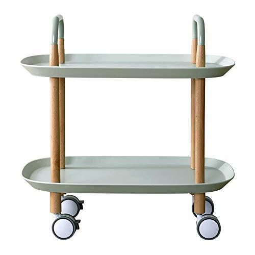 Home & Selected Furniture/draagbare hoekbank bijzettafel met 3 niveaus voor opslag in het rek 57,5 x 37 x 59 cm (kleur: grijs)