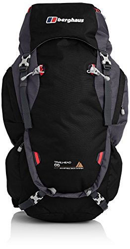 Berghaus Men's Trailhead Outdoor Rucksack, Black/Carbon, 65 Litres