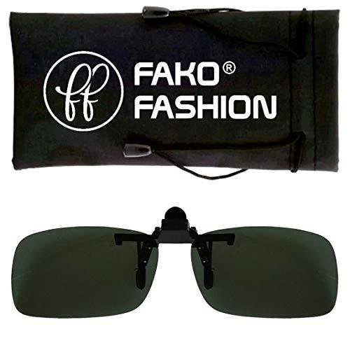 Fako Fashion® - Clip On Voorzet Zonnebril - Small - 125x33mm - Groen