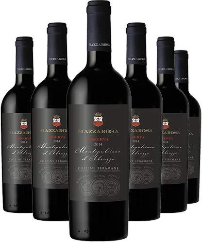 Vino Rosso Montepulciano d Abruzzo Riserva DOCG 2015 - Cantina Mazzarosa - Box 6 bottiglie 0,75 L - Abruzzo - Colline Teramane - Made in Italy - Decanter 2021
