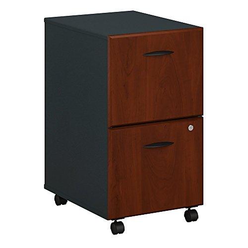 Bush Business Furniture Series A 2 Drawer Mobile File Cabinet - Hansen Cherry/Galaxy 16W X 20D X 28H Ergonomichome American Made TAA Compliant
