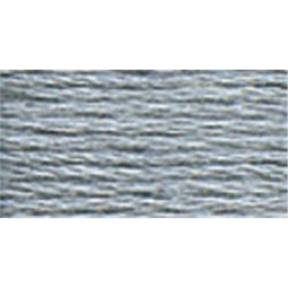 DMC Six Strand Embroidery Cotton 100 Gram Cone: Steel Grey Light