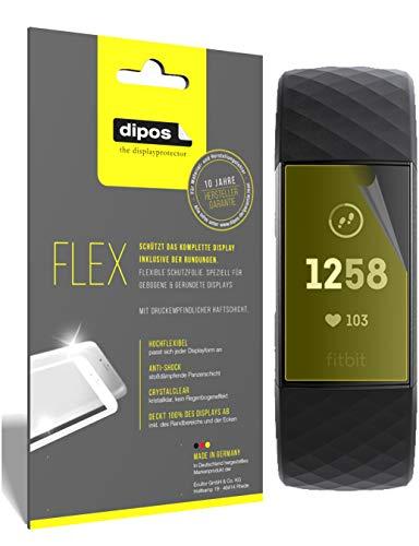 dipos I 3X Pellicola Protettiva Compatibile con Fitbit Charge 3 - Rivestimento del Display al 100% - Pellicola di Protezione