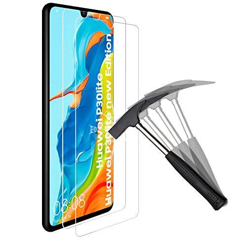 ANEWSIR [2 Pezzi per Huawei P30 Lite Vetro Temperato Huawei P30 Lite Pellicola Protettiva, Durezza 9H, Anti-Graffi, Protezione Protettore Glass Screen Protector.