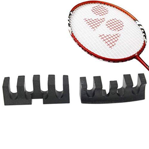 Elise 2ST Badminton-Schläger-Werkzeug Kabel High Pound Schutz Stringing Reducer Adapter Laden Spreader Threading Zubehör Ziehmaschine 2pcs Schwarz