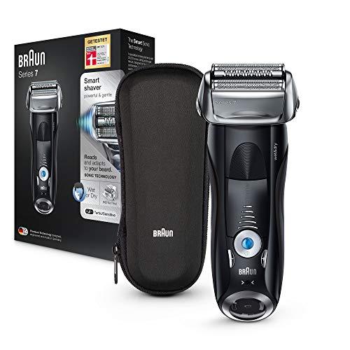 Braun Series 7 7842s Elektrorasierer, Wet&Dry-Funktion, mit Reise-Etui, schwarz