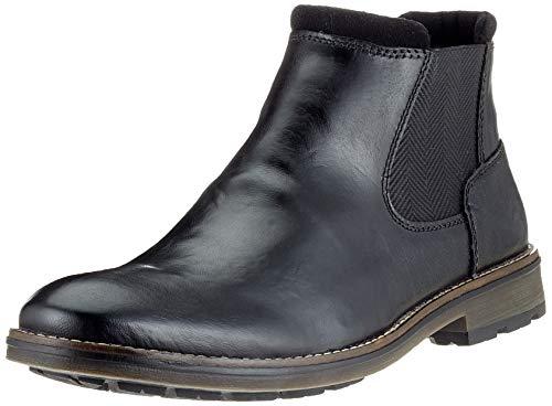 Rieker Herren F5551 Chelsea Boots, Schwarz (Schwarz/Schwarz/Schwarz/Schwarz 02), 40 EU