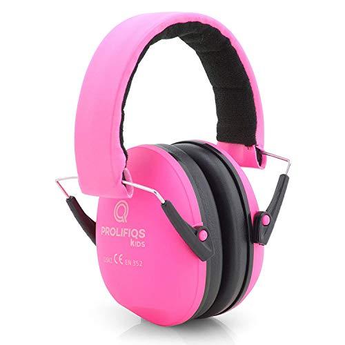 Prolifiqs Gehörschutz Kinder und Jugendliche I Lärmschutz Kopfhörer für Kinder + Jugendliche von 3 bis 16 Jahre I PVC-freie Lärmschutzkopfhörer für Mädchen I Rosa, Small1